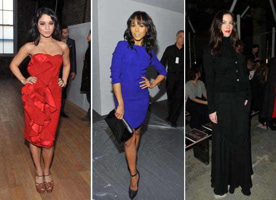 2011 Fall New York Fashion Week Fashion Celebrities Front Row Kate Bosworth Vanessa Hudgens Emma Roberts