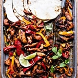 Sheet Pan Poblano Chicken Fajitas
