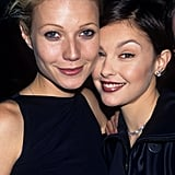 Gwyneth and Ashley Judd showed off their '90s-style hair and makeup at the VH1 Fashion Awards in October 1996.