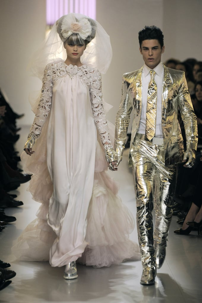 "Chanel Spring 2010 Couture: ""Neon Baroque"" With a Dash of Pastel"