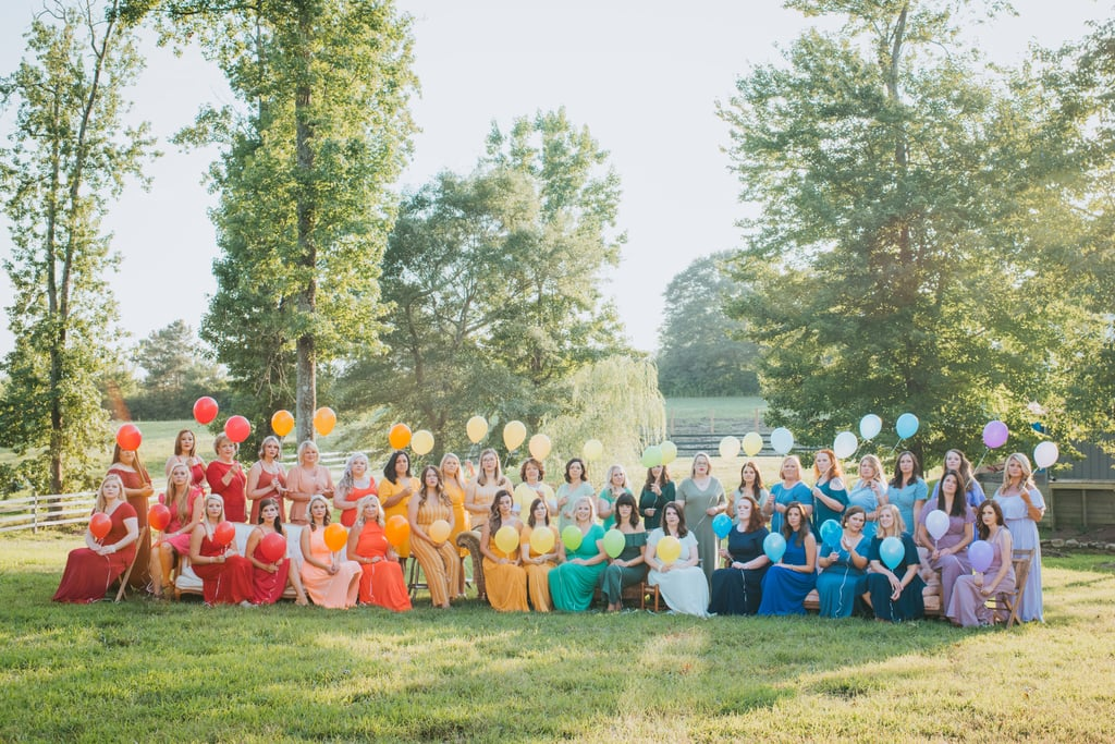Rainbow Baby Photo Shoot Brings Together Dozens of Women ...