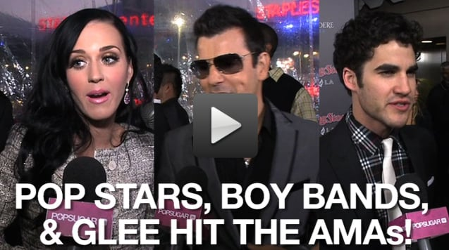 Video of Stars on the American Music Awards Red Carpet
