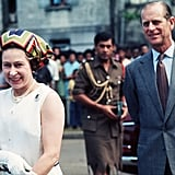 Queen Elizabeth II and Prince Philip in Fiji in 1977.