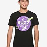 Disney Pixar Toy Story Buzz Lightyear Purple Logo T-Shirt