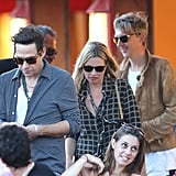 Kate Moss and Jamie Hince went out in Saint-Tropez.