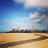 Christy Turlington snapped this gorgeous pic of the Santa Monica pier during a morning run.