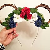 Fourth of July Floral Mickey Ears ($25)