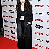 Lorde looked like she was going goth at London's VEVO Halloween Showcase.