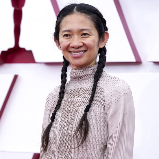 Chloé Zhao's White Sneakers and Hermès Gown at 2021 Oscars