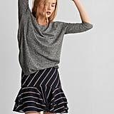 Express Lace-up Hem Sweater