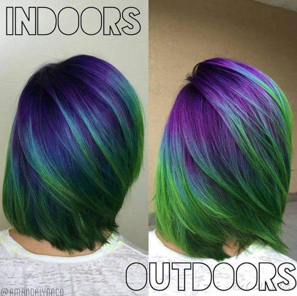 Aurora Borealis Hair Color Ideas Popsugar Beauty Photo 6