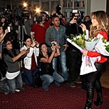 Jennifer Lopez posed for a photocall.