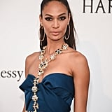 Joan Smalls Styled Her Chopard Hoops With a Bejeweled Harness