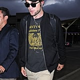 On Wednesday, Robert Pattinson touched down in LA after his outing with singer FKA Twigs in London.