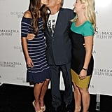 Jordana Brewster and Max Azria exchanged kisses at his fashion show.