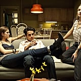 Allison Williams, Chris Abbott, and Jemima Kirke in Girls. Photo courtesy of HBO
