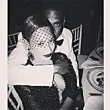 Beyoncé and Jay Z cuddled inside. Source: Instagram user beyonce