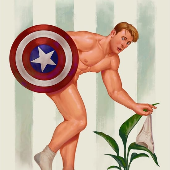 Sexy Male Superhero Artwork