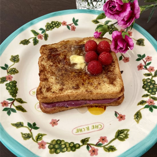 Boysenberry Cheesecake Stuffed French Toast Recipe