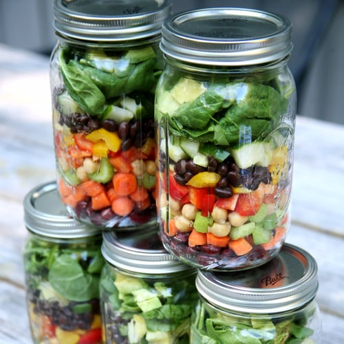 3-Bean Mason Jar Salads