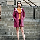 Selena Gomez Wearing Red Stutterheim Raincoat