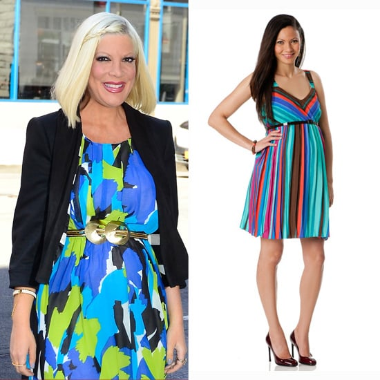 Tori Spelling's Multicolored Cocktail Dress