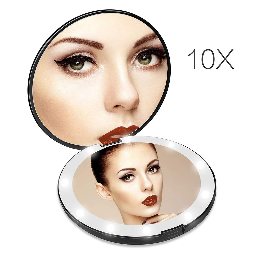 Lighted Travel Magnifying Makeup Mirror
