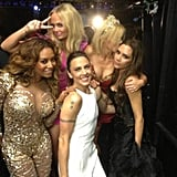 The Spice Girls snapped a photo backstage at the closing ceremonies. Source: Twitter user victoriabeckham