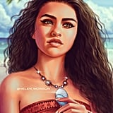 Celebrity Princess: Selena Gomez as Moana