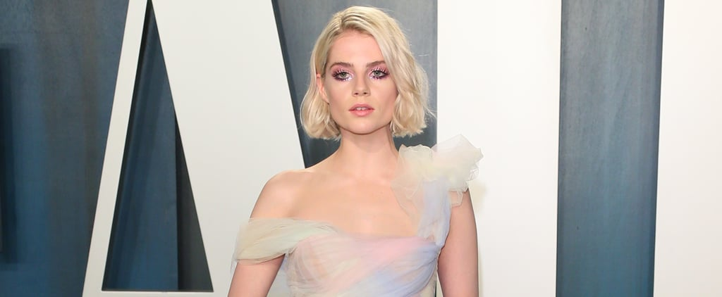 Lucy Boynton's Miu Miu Dress at the Oscars Afterparty 2020