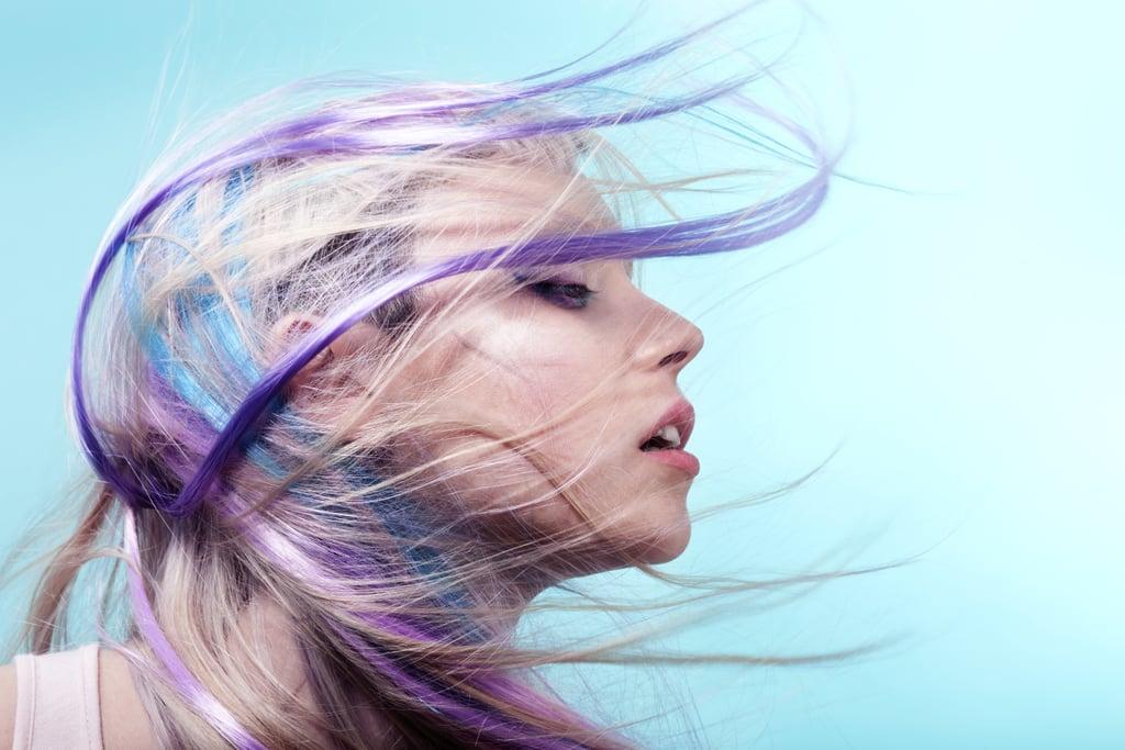 Dye a streak of your hair.