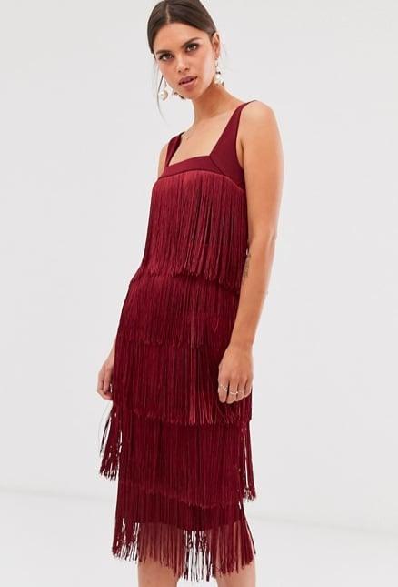 ASOS Design Fringe Midi Dress