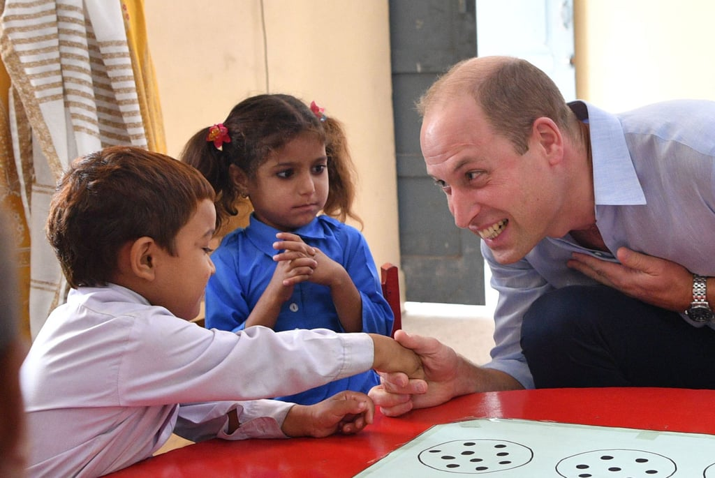"Prince William is remembering Princess Diana during his royal tour of Pakistan with Kate Middleton. On Tuesday, the duke of Cambridge visited the Islamabad Model College For Girls, where he bonded with a group of students over their mutual love for his late mom, Princess Diana. Fourteen-year-old Aima reportedly told Will that they were ""big fans"" of Diana, to which William replied, ""You were, really? Oh, that's very sweet of you. I was a big fan of my mother too."" Diana — who died in a fatal car accident in August 1997 — famously visited Pakistan in the '90s, but this trip marks Will's first time in the country. ""She came here three times. I was very small,"" Will said. ""This is my first time, and it is very nice to be here and meet you all.""  During Will and Kate's five-day trip, the royal couple will make several stops in Islamabad, Lahore, along the Western border, and in the mountains in the North.       Related:                                                                                                           Remembering Princess Diana's Sweetest Mom Moments"