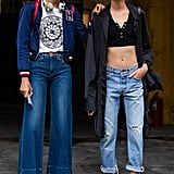 Whether you go for a dark wash flare or light wash boyfriend, there's no vibe a denim look can't handle mastering.
