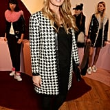 At the Charlotte Simone presentation during London Fashion Week in February 2016.