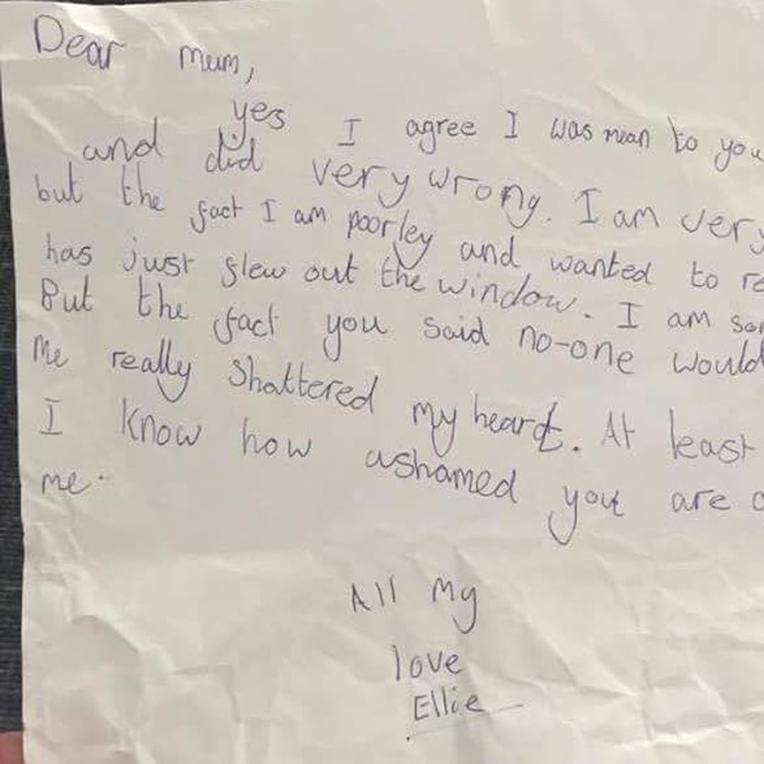 Kid s Letter to Mom Made Her Feel Guilty