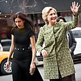 Abedin appeared on the 2016 campaign trail with Clinton in Queens, NY.