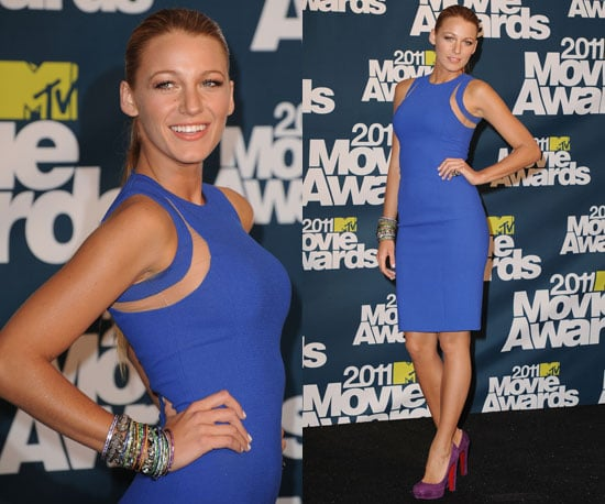 Blake Lively in Sexy Michael Kors Cobalt Blue Dress at 2011 MTV Movie Awards