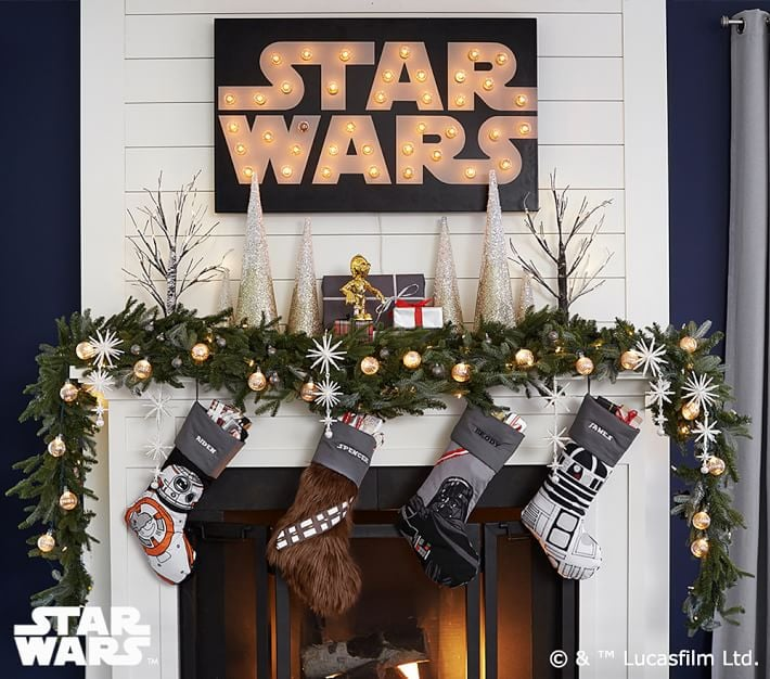 Star Wars products just keep coming from Pottery Barn. After previously releasing a nursery collection inspired by the iconic franchise, Pottery Barn Kids has unveiled a holiday stocking collection complete with Chewbacca, R2-D2, and BB-8 stockings. Though the line will definitely please Star Wars fans, the stockings are cute enough to fit in with the rest of your holiday decor — with perhaps the exception of the Chewbacca stocking, if we're being honest. For an additional $10, each stocking can also be personalized with a monogram. Shop the stockings ahead!      Related:                                                                                                           Happy Christmas, Harry! These Hogwarts Stockings From PBteen Are Going Into Our Carts ASAP