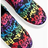 Torrid Disney Mickey Mouse Rainbow Black Canvas Slip-On Sneaker
