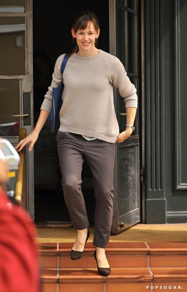 Jennifer Garner was all smiles when she ran errands around LA on Tuesday.