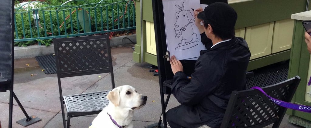 This Adorable Service Dog Got His Caricature Drawn at Disneyland and Won the Internet