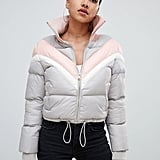 PrettyLittleThing Color Block Padded Jacket