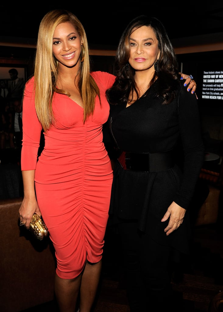 Beyoncé wrapped her arm around her mom following following JAY-Z's concert at Carnegie Hall in February 2012.