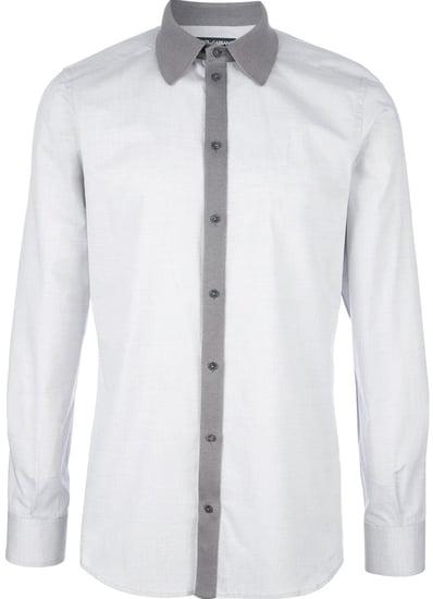Dolce & Gabbana contrast collar shirt