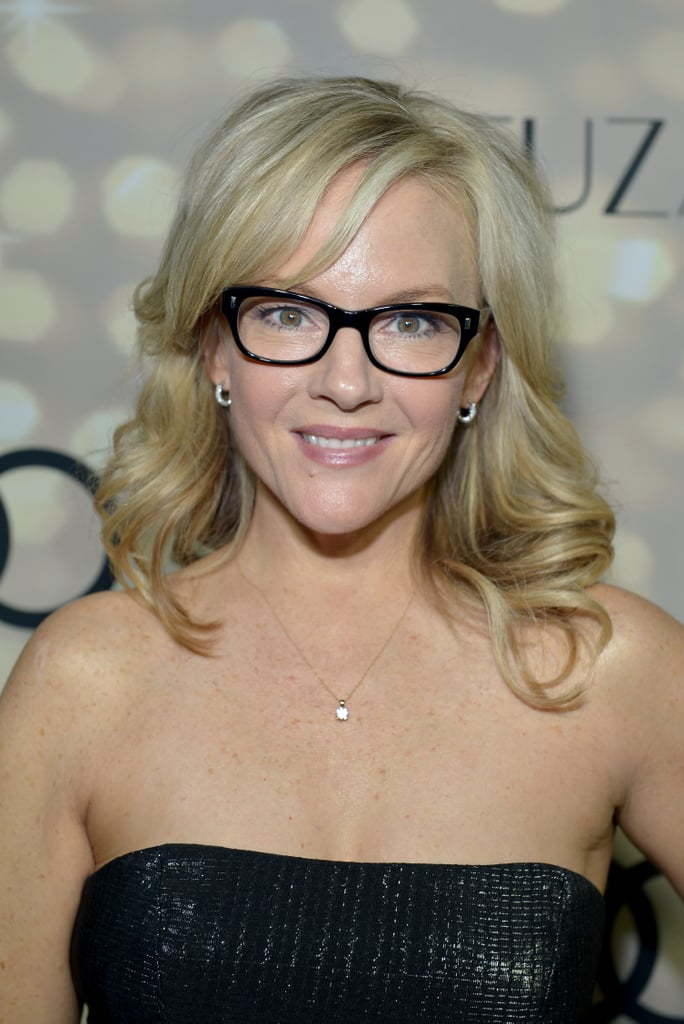 Rachael Harris stuck with her signature blond waves and natural makeup look at the Audi and Altuzarra Kick-Off Party.