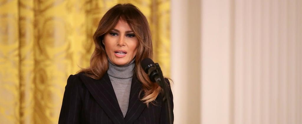 Melania Trump's Gray Turtleneck Sweater
