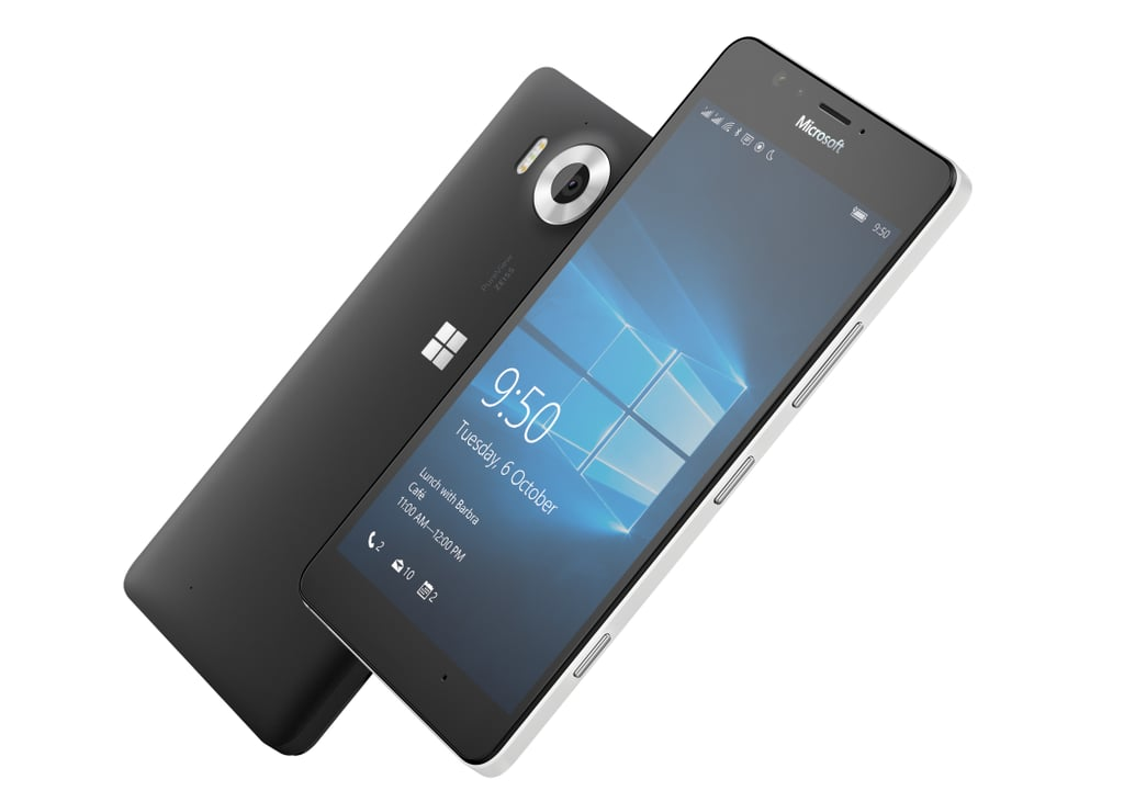 The Lumia 950, one of Microsoft's newest phones.