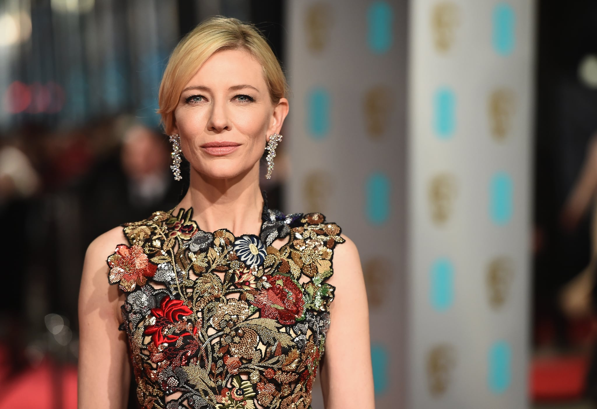 LONDON, ENGLAND - FEBRUARY 14:  Cate Blanchett attends the EE British Academy Film Awards at the Royal Opera House on February 14, 2016 in London, England.  (Photo by Ian Gavan/Getty Images)