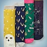 4 Pack Harry Potter Socks